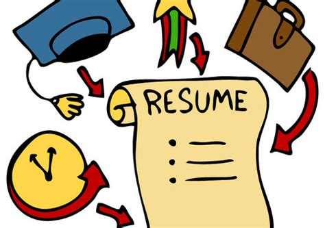 Template for resume writing